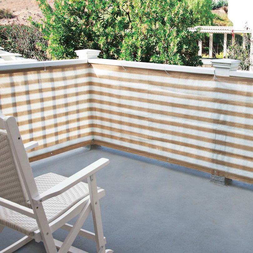 Solid Fabric Privacy Screen
