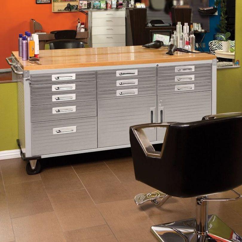 Workbench-Like Garage Storage