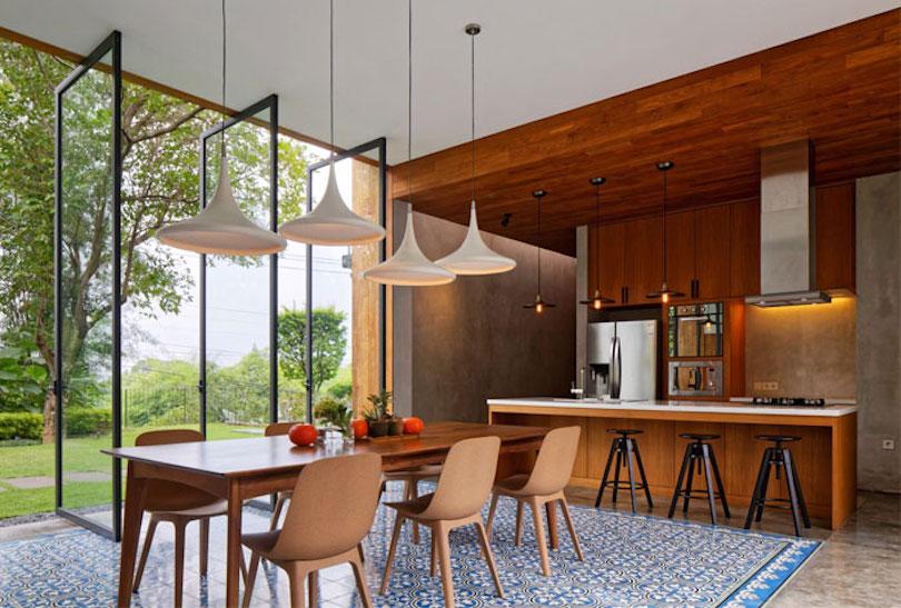 Open-plan kitchen design