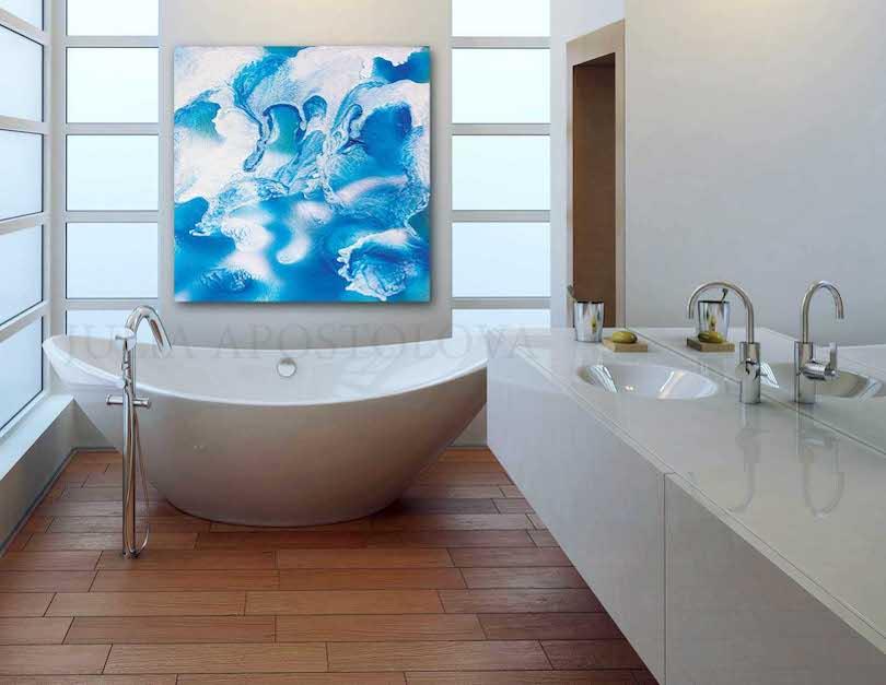 Use Art For Spa-Like Bathroom