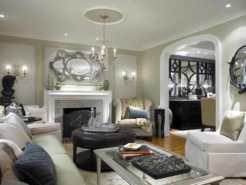 Family Room Design With European Flair