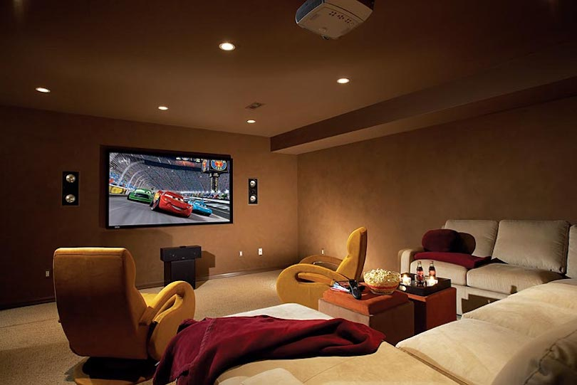 Family Room Design For a Movie Night or Game Night