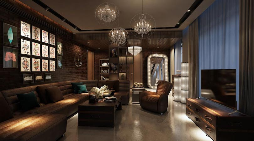 Family Room Design For Cocktail Nights