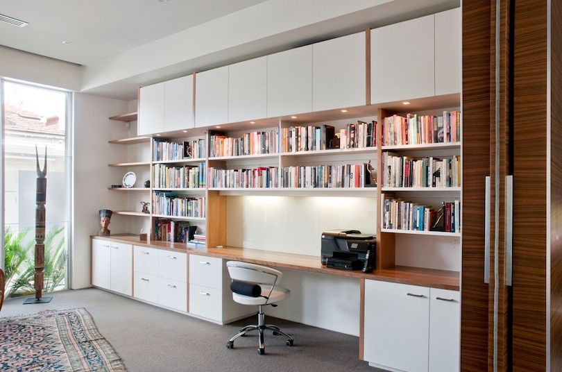 Create Wall-To-Wall Home Office Storage