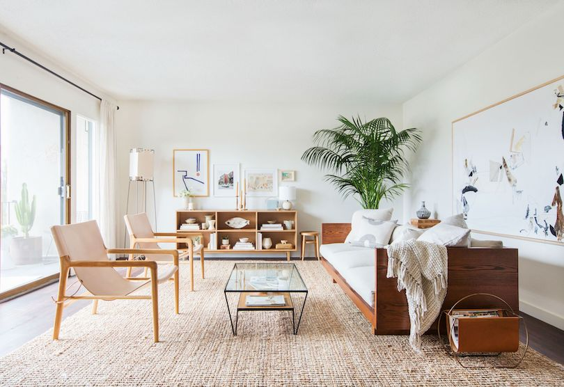 Family Room Design With Woven Tactility