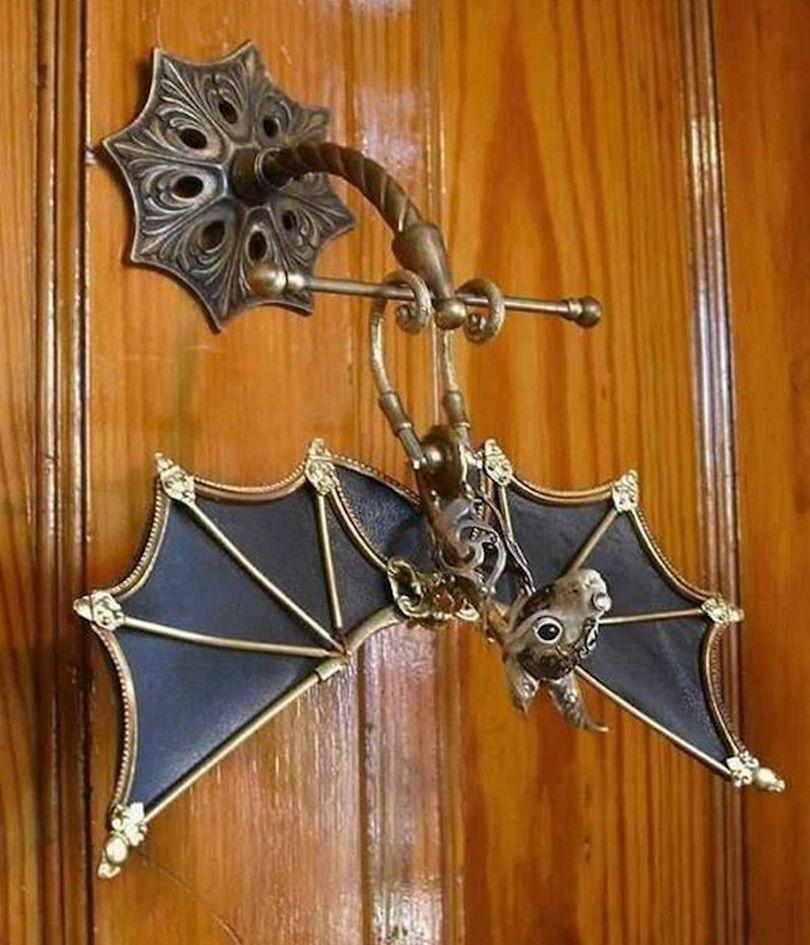 Halloween-themed door knocker