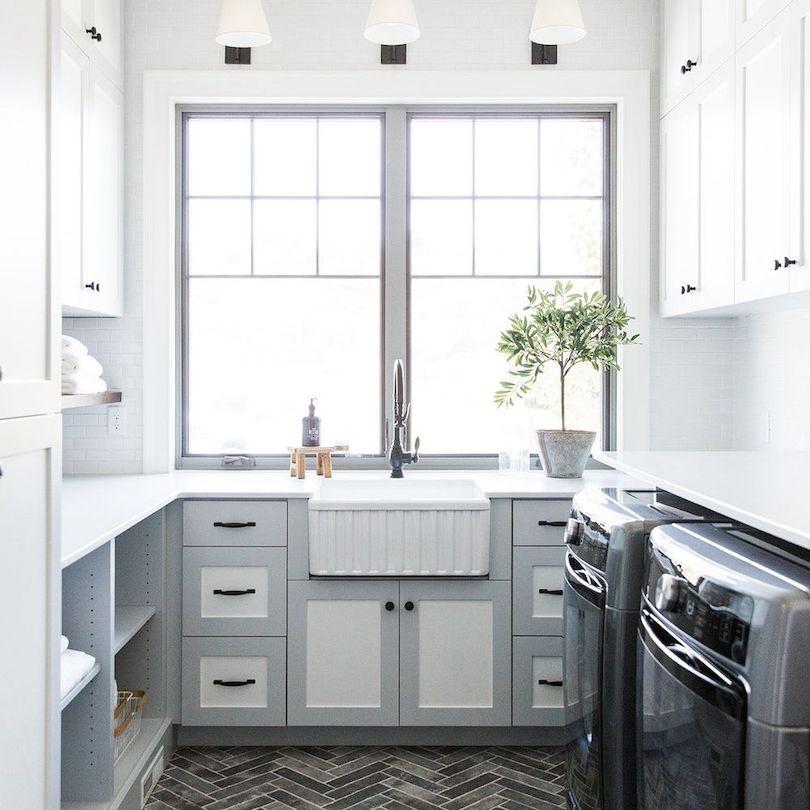 Monochromatic Laundry Rooms