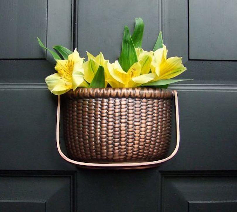 Basket door knocker