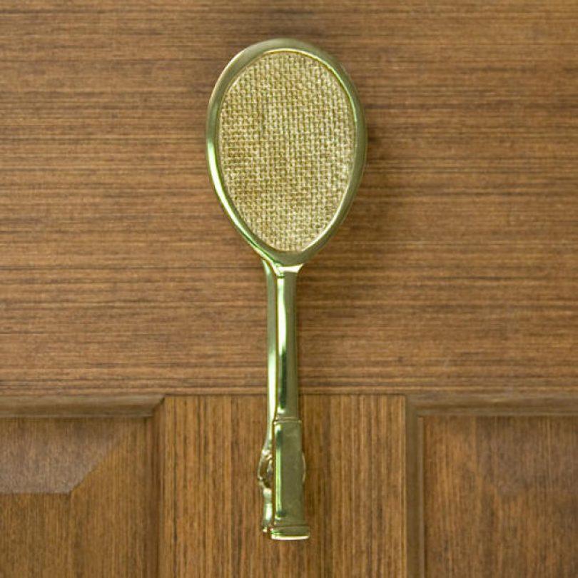 Racket-shaped door knocker