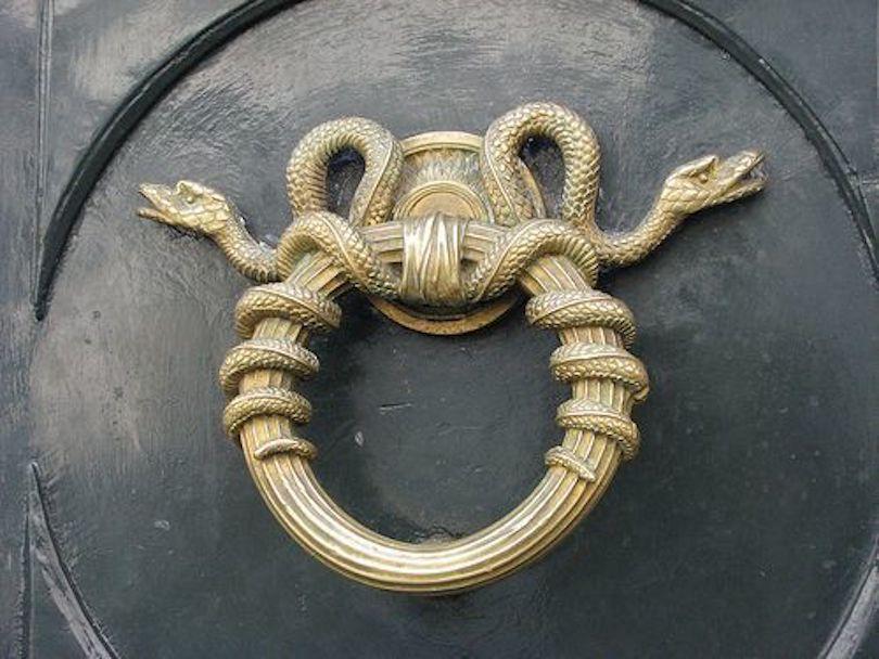 Serpent door knocker