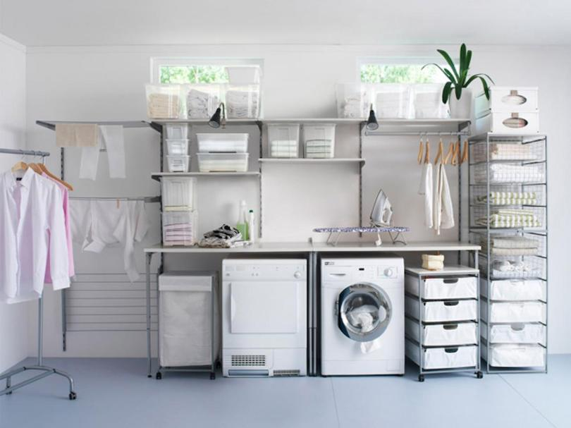 Select the appropriate laundry storage options