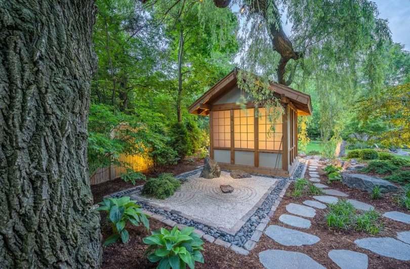 Mystical Garden Area With Floor Slabs