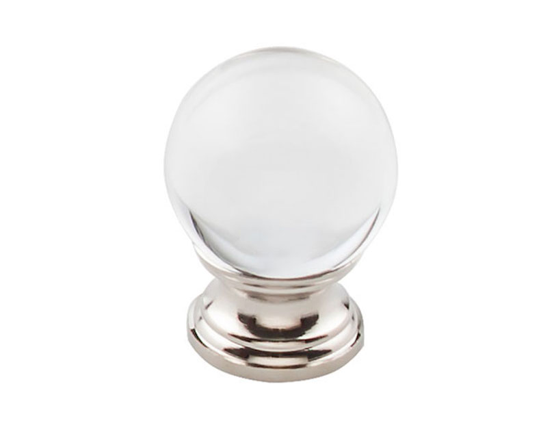 Clarity Clear Glass Knob