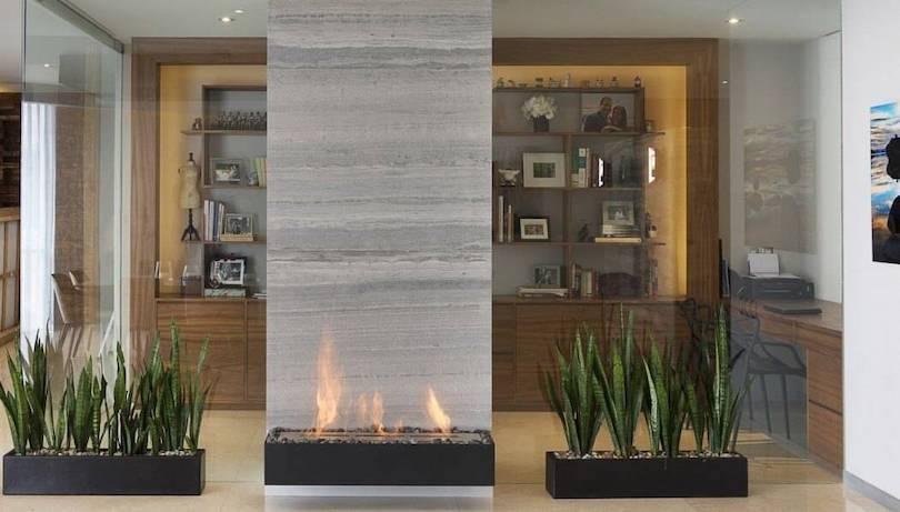 Glass Fireplace Surround
