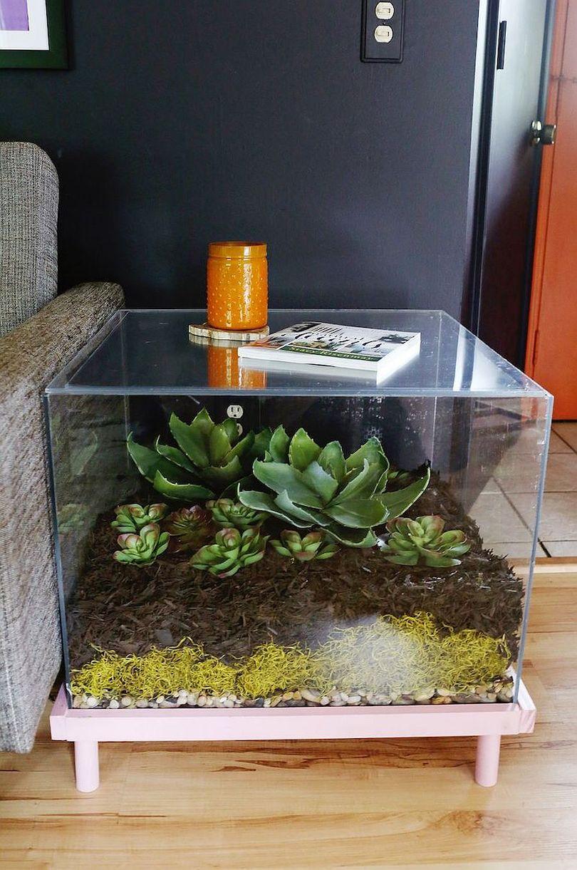 DIY Terrarium Side Table