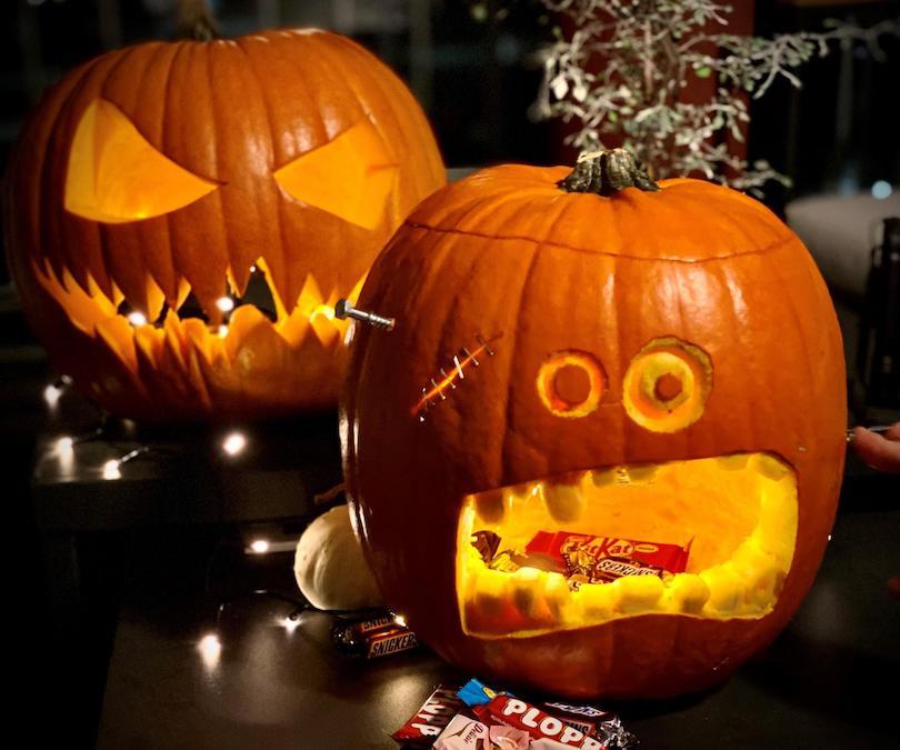Pumpkin Candy Dispenser