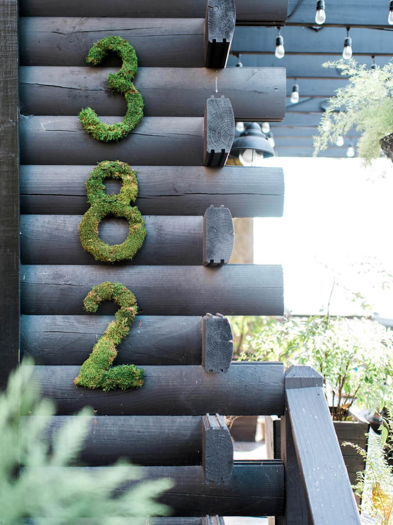 Creative House Numbers - outdoor wall decor ideas