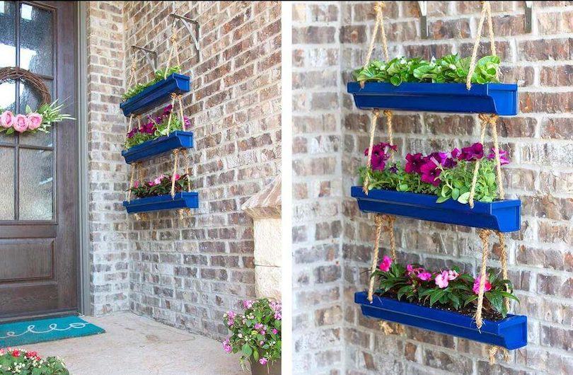 DIY Hanging Plants - Outdoor Wall Decor Ideas