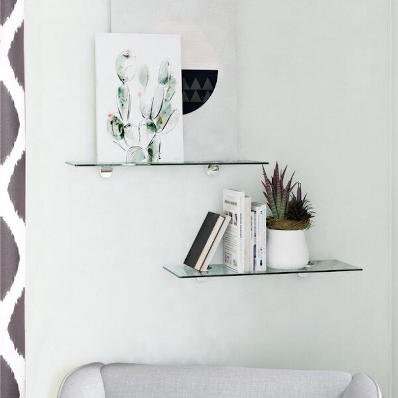 Glass Wall Shelf Design Ideas