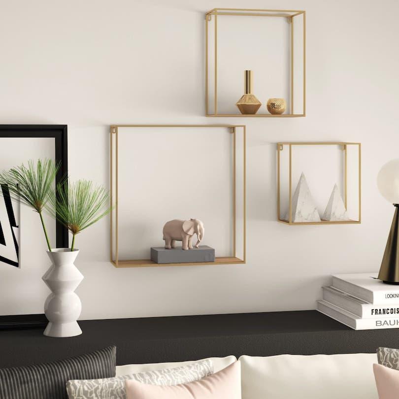 Golden Square Wall Shelves