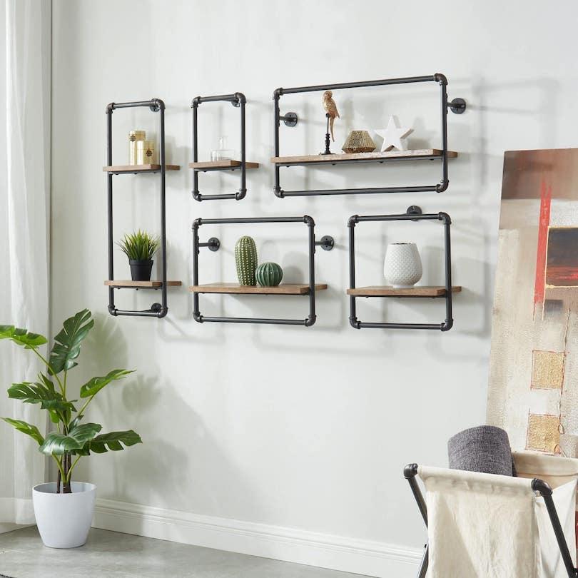 Wall Pipe Shelf