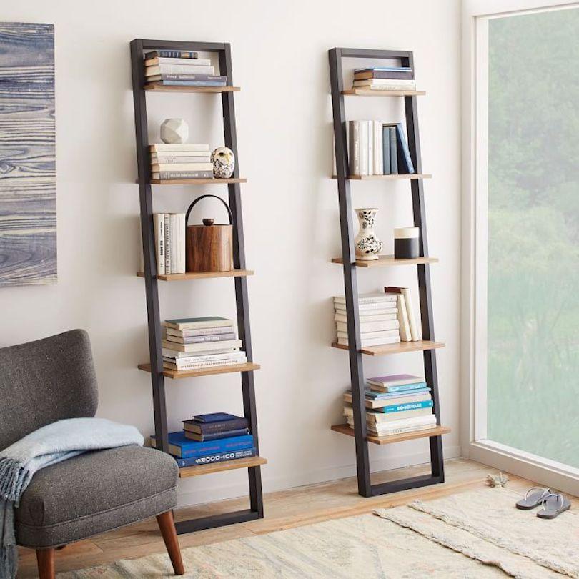 Ladder Bookshelf Designs