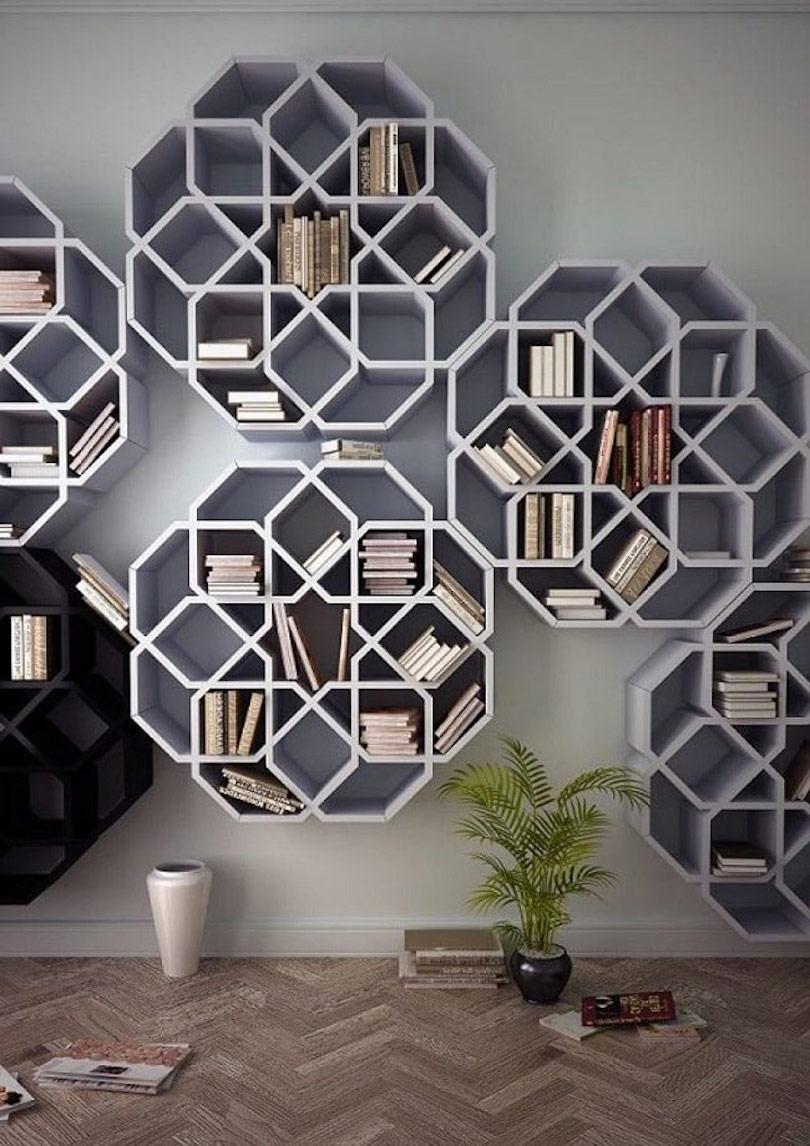 Patterned Wall Shelf Design Ideas