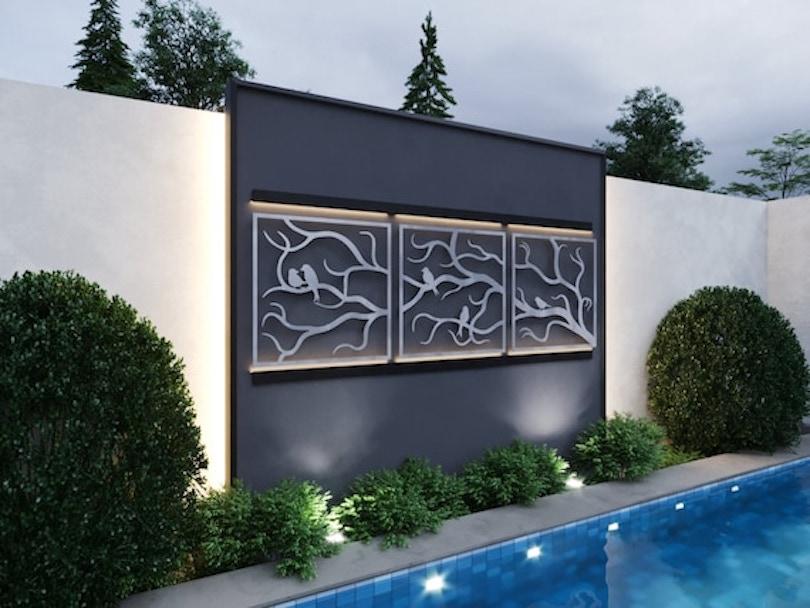 Triptych Outdoor Wall Art