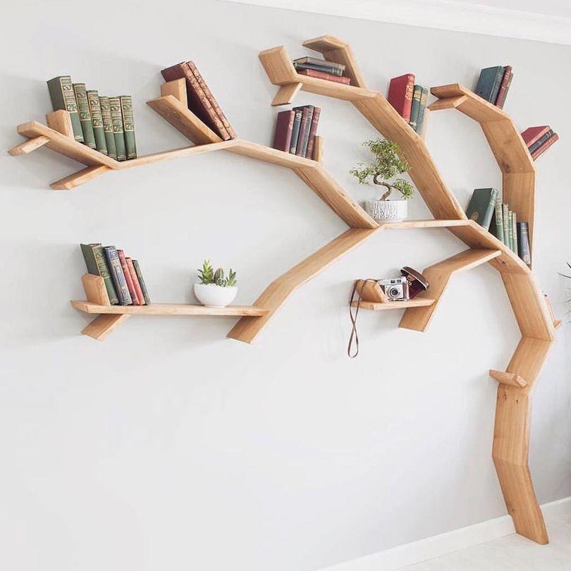 Tree-Shaped Bookshelf Designs