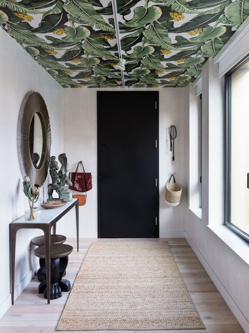 Wallpaper on the Ceiling - Entryway Decorating Ideas